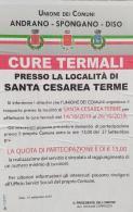 Cure termali presso la località di S. Cesarea Terme