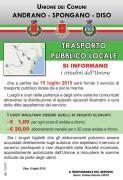 Trasporto pubblico locale - Manifesto informativo
