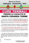 SERVIZIO DI TRASPORTO presso gli stabilimenti termali di Santa Cesarea Terme dal 15/10/2018 al 27/10/2018 organizzato dall'Unione dei Comuni di Andrano-Spongano-Diso